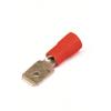 Наконечник быстрого соединения типа вилка с контактом 6,3X0,8 мм с изолированным фланцем, сечением 0,25-1,5 мм? 2A22P ДКС