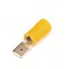 Наконечник быстрого соединения типа вилка с контактом 6,3X0,8 мм с изолированным фланцем, сечением 2,5-6 мм? 2C22P ДКС
