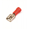 Наконечник быстрого соединения типа розетка с контактом 6,3X0,8 мм с изолированным фланцем, сечением 0,25-1,5 мм? 2A02P ДКС