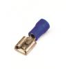 Наконечник быстрого соединения типа розетка с контактом 6,3X0,8 мм с изолированным фланцем, сечением 1,5-2,5 мм? 2B02P ДКС