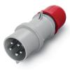 Вилка кабельная IP44 32A 3P+E+N 400V, DIS2133237, ДКС