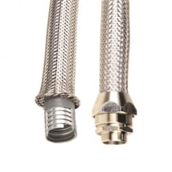 Металлорукав DN 26мм в гладкой EVA изоляции и оплетке из нержавейщей стали, Dвн 26,5 мм, Dнар 34,0, IP66, 25 м, 607ETX032, ДКС
