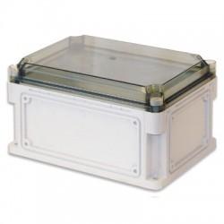 Корпус пластиковый общего назначения IP67, 400x200x160 (высота крышки 35), выбивные стенки, прозрачная крышка, 542311, ДКС