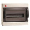 Щиток настенный с дверцей 12 модулей, IP65, цвет серый RAL7035, 85612, ДКС