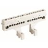 Усиленный клеммный блок (2х18 модулей) в комплекте с крепежом, 87318, ДКС