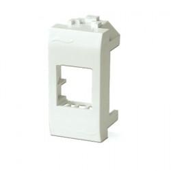 Адаптер для информационных разъемов Keystone, 1 модуль, поликарбонат, белый RAL9010, 76607B, ДКС