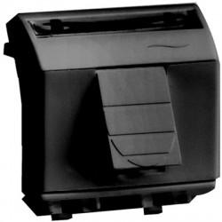 Телефонная розетка RJ-11 (адаптер+модуль AMP код 1375192-2), 2 модуля, цвет черный, 77645N, ДКС