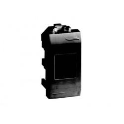 Компьютерная розетка RJ-45 категории 5Е, UTP (адаптер+модуль AMP), 1 модуль, цвет черный RAL7016, 77646N, ДКС