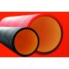 Усиленные (жесткие) УФ стойкие двустенные гофрированные трубы из полиэтилена, (8 кПа), д200мм, цвет черный, с муфтой, 160920A-8K, ДКС