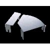 Крышка д/угла гор.изм.CPO 0-44 осн.200, 38012INOX, ДКС
