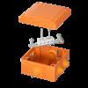 Коробка пластиковая FS с кабельными вводами и клеммниками, IP55,100х100х50мм, 4р, 450V,6A, 4мм.кв, FSB11404, ДКС