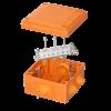 Коробка пластиковая FS с кабельными вводами и клеммниками,IP55,100х100х50мм, 6р, 450V,6A, 4мм.кв, FSB11604, ДКС