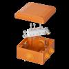 Коробка пластиковая FS с кабельными вводами и клеммниками,IP55,100х100х50мм, 5р, 450V,20A,10мм.кв, FSB11510, ДКС