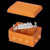 Коробка пластиковая FS с кабельными вводами и клеммникамиIP55,150х110х70мм,4р, 450V,32A,10мм.кв, нерж.контакт, FSK21410, ДКС