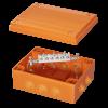 Коробка пластиковая FS с кабельными вводами иклеммникамиIP55,240x190x90мм,6р, 450V,32A,10мм.кв, нерж.контакт, FSK41610, ДКС