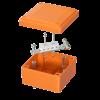 Коробка пластиковая FS с гладкими стенками и клеммниками, IP56,100х100х50мм, 4р, 450V,6A, 4мм.кв, FSB10404, ДКС