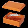 Коробка пластиковая FS с гладкими стенками иклеммникамиIP56,240x190x90мм,6р, 450V,32A,10мм.кв, нерж.контакт, FSK40610, ДКС