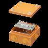 Коробка стальная FS с кабельными вводами и клеммниками, IP55,150х150х80мм,4р, 450V,6A, 4мм.кв., FSB31404, ДКС