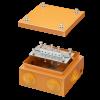 Коробка стальная FS с кабельными вводами и клеммниками,IP55,150х150х80мм,6р, 450V,6A, 4мм.кв., FSB31604, ДКС
