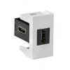 HDMI розетка, Viva, белая, 1 мод., 41018, ДКС