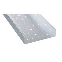Лоток перфорированный 450х80х3000, 1,5 мм, AISI 304, ISM845C, ДКС