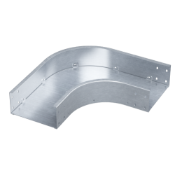 Угол горизонтальный 90°, 450х80, 0,8 мм, AISI 304, ISDL845KC, ДКС