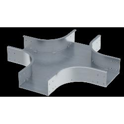 Ответвитель Х-образный, 500х50, 0,8 мм, AISI 304, ISXL550KC, ДКС