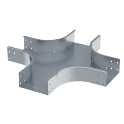 Ответвитель Х-образный, 300х100, 0,8 мм, AISI 304, ISXL1030KC, ДКС