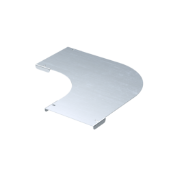 Крышка на угол горизонтальный 90°, осн. 50, толщ. 0,8 мм, AISI 304, IKSDL050C, ДКС