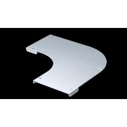 Крышка на угол горизонтальный 90°, осн. 400, толщ. 0,8 мм, AISI 304, IKSDL400C, ДКС
