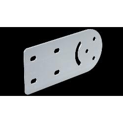 Соединитель вертикальный шарнирный, H80, нерж. сталь AISI 304, IVH80KC, ДКС