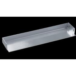 Заглушка для лотка, 100х50, нерж. сталь AISI 304, IZH510C, ДКС
