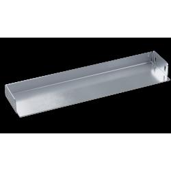 Заглушка для лотка, 400х100, нерж. сталь AISI 304, IZH1040C, ДКС