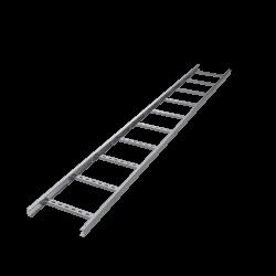 Лоток лестничный, 50х400, L 3000, лонжерон 1,5 мм, AISI 304, ILM3540C, ДКС