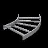 Угол горизонтальный 45°, 150х1000, R600, 1,5 мм, AISI 316L, ILCM615100, ДКС